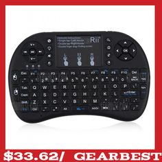 5be9cc6851e Rii i8+ Multi-function Mini 2.4GHz Wireless Touchpad Keyboard with Built-in  Battery for HTPC | Air Mouse | Pinterest | Keyboard