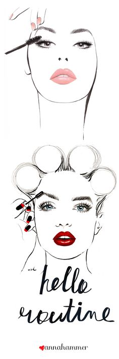 Fashion Illustration | Makeup Drawing