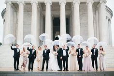 Brides: Washington, DC Real Wedding Photos: A Classic, Rainy Day Celebration at Annunciation Catholic Church and Congressional Country Club