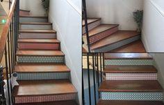 Papier peint pour les contre marches d 39 un escalier - Papier peint escalier ...