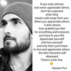 Inspirational words by one and only Sanam_Puri❤