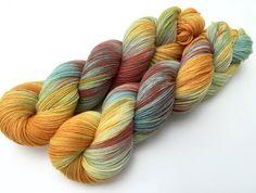 Hand-dyed yarn, sockyarn 4-ply, 100g