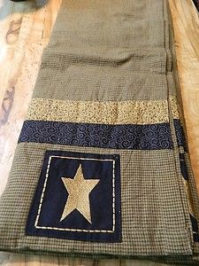Primitive Star Brown black and tan Buttonhole Shower Curtain Primitive Kunst, Primitive Stars, Primitive Crafts, Country Primitive, Primitive Shower Curtains, Western Baths, Western Kitchen, Lucky Star, Diy Projects To Try