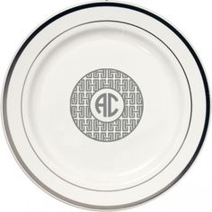 Personalized Premium Plastic Plates using one of our Signature Collection Monogram \u0026 Initial Design GREEK 2  sc 1 st  Pinterest & Personalized Square Plastic Plates using one of our Signature ...
