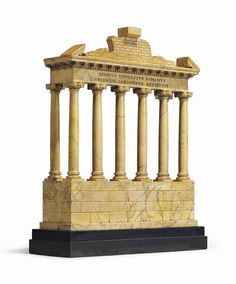 Architectural Columns, Architectural Models, Gran Tour, Temple Design, Arch Model, Granite Stone, Black Marble, Decoration, Antique Furniture