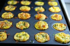 Mini Quiche Recipe - Add any variety of toppings you wish. Great to flash freeze then pop out of the freezer straight into the oven for a quick make-ahead breakfast or brunch!