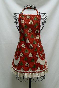 christmas aprons | Women's Christmas Hostess Apron