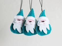Santa Claus, Christmas Felt Ornament,Felt Santa Claus,Santa Claus Ornament,Christmas Ornament,Primitive Christmas,Christmas Holiday Decor