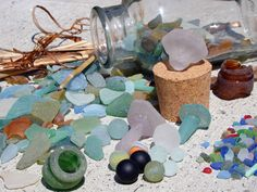 Some of my sea glass collection, featured in a guest blog post by Gary du Blois.