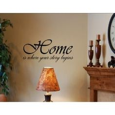 Amazon.com: HOME IS WHERE YOUR STORY BEGINS Vinyl wall quotes and sayings art decor decal: Home & Kitchen $8.50