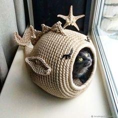 Chat Crochet, Crochet Cat Toys, Crochet Motifs, Crochet Home, Crochet Animals, Crochet Crafts, Yarn Crafts, Easy Crochet, Crochet Projects