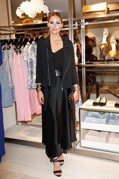 Style icon Olivia Palermo attends the ESCADA Flagship Store Opening on June 23, 2016 in Duesseldorf Germany