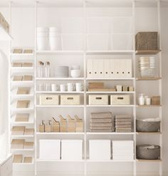 I'm picturing this for the studio (books!) and the storage room (floor to ceiling storage oh my god I'm a pack rat!) Seen on ELVARLI Storage System (& Room Divider!) — Top 10 Favorite New IKEA… Ikea Storage, Table Storage, Storage Room, Ceiling Storage, Modular Storage, Storage Ideas, Ikea 2017 Catalog, Elvarli Ikea, Shopping Ikea