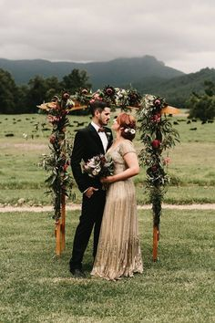 Gorgeous floral wedding arch | Zoe Morely Photography