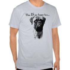 This is so LuLu :) Bullmastiff Happy Face T-shirts