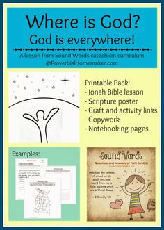 Bible Lesson: Where is God? (Sound Words Catechism) by ProverbialHomemaker.com