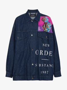 14a84e6376c5 Raf Simons New Order denim jacket Grunge Outfits, Raf Simons, Piece Of  Clothing,