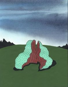 "Ken Price, Canyon Sculpture, 2006,   Acrylic and ink on paper, 11"" x 8 1/2"",  Matthew Marks Gallery"