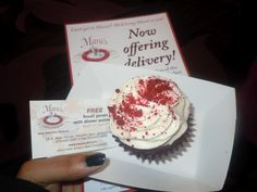 Love Mara's Red Velvet cupcake from The Best 2012 Morris/Essex Health & Life Magazine Party & Expo at the Sheraton Hotel in Parsippany,NJ