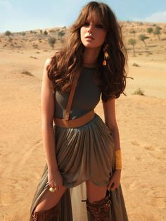 because if I were walking in the desert, I'd wear this too