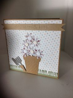 Square card using Craftwork Cards Potting Shed collection