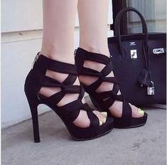 Trendy Strap Open Toe Ankle Stiletto Heels – ShoeSity