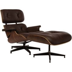 Replica Eames Lounge Chair and Ottoman Premium Version (8,690 CNY) ❤ liked on Polyvore featuring home, furniture, chairs, accent chairs, replica furniture and replica chairs