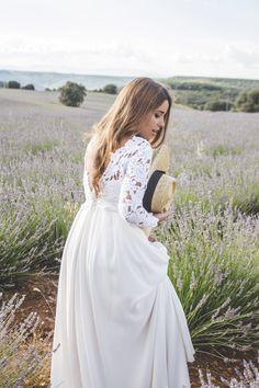 Bride - Wedding Style - countryside - canotier - lavanda - Loreto Gordo - Made in Style