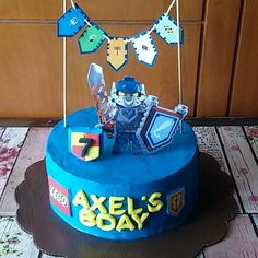 Nexo Knights Themed Cake #kukibakes #kukicakes #birthdaycake #buttercreamcake #nexoknights #nexoknights2016 #nexoknightscake #legocake #nexopower #wiltoncakes #cakes #pesankue #jualkue #BSDCity #tangerang #instacake