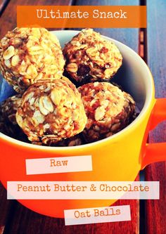 Raw Peanut Butter and Chocolate Oat Balls. Quick and easy vegan recipe from Veggie Visa.: