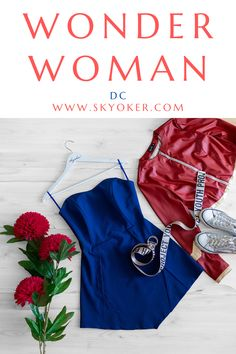 #wonderwoman #dc #justiceleague #comics #dress #disney #woman #girl Dc Superhero Girl, Wonder Woman Outfit, Girl Outfits, Casual Outfits, Wonder Women, Skater Dress, Camisole Top, Leather Jacket, Comics
