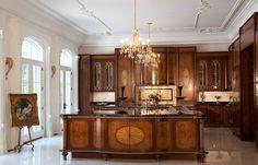Traditional Kitchens - Traditional - Kitchen - Miami - Neff of Fort Lauderdale Bespoke Kitchens, Luxury Kitchens, Dream Kitchens, Kitchen Center Island, Kitchen Islands, Classical Kitchen, Grand Kitchen, Huge Kitchen, Old World Kitchens
