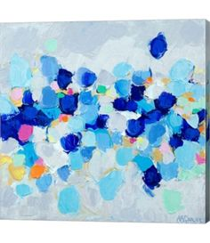 Contemporary abstract artwork - Amoebic Party II Wall Art by Ann Marie Coolick from Great BIG Canvas. Canvas Artwork, Framed Artwork, Canvas Wall Art, Big Canvas, Blue Artwork, Framed Prints, Tableaux D'inspiration, Contemporary Abstract Art, Hanging Art