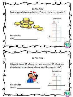 Problemas para I grado | Profe Yano 1st Grade Math Worksheets, 2nd Grade Math, Math Class, Grade 1, Maila, Word Problems, Business For Kids, High School, Teacher