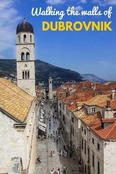 Walking the medieval walls of Dubrovnik | http://adventurousmiriam.com/walking-the-medieval-walls-of-dubrovnik/