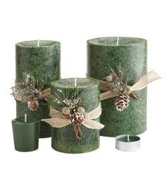 Wrapped with traditional holiday trimmings, these candles are ready to display instantly. $7 - $17, pier1.com