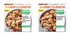 The line-up of Lean Cuisine Bowls include: - Sticky Ginger Chicken - Shrimp Alfredo  - Four Cheese Tortelloni with Pesto - Sweet & Sour Chicken - Peanut Chicken Stir Fry  - Roasted Turkey & Vegetables - Orange Chicken  - Unwrapped Chicken Burrito - Savory Sesame Chicken & Vegetables  - Spicy Baja Style Chicken  - Spice Market Chicken & Cauliflower  - Mango Chicken with Coconut Rice  - Sesame Stir Fry with Chicken  - Chicken Teriyaki  - Balsamic Glazed Chicken  - Spicy Baja-Style Chicken Mango Chicken, Sweet Sour Chicken, Ginger Chicken, Chicken Spices, Sesame Chicken, Chicken And Vegetables, Balsamic Glazed Chicken, Teriyaki Chicken, Chicken And Shrimp Alfredo