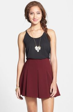 $42, Lush Pleated Skirt. Sold by Nordstrom. Click for more info: https://lookastic.com/women/shop_items/109808/redirect