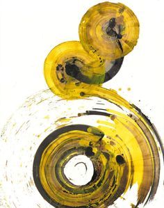 Original Abstract Modern Art Yellow by AbstractXpressionism