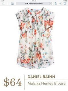 Stitch Fix Daniel Rainn Henley Blouse