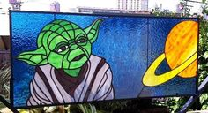 May the force be with you! Yoda stained glass window #starwars #Yoda