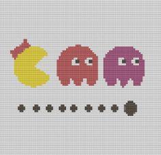 Cross Stitch Pattern Miss Pacman PDF - Retro Cross Stitch - Arcade Games on Etsy, £2.99