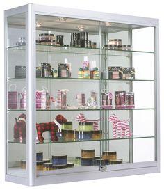 illuminated wall mounted display cabinet