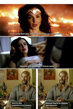 Wonder Woman: optimist. Jessica Jones: Pessimist. Thor: Realist. - Imgur
