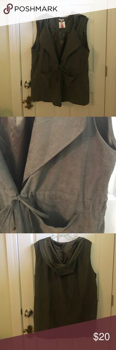 Military green hooded vest NWT military green hooded vest. My loss is your gain. Jackets & Coats Vests