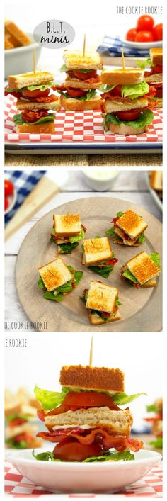 The Classics are the best! MINI BLT SLIDERS! So cute and easy. LOVE! - The Cookie Rookie