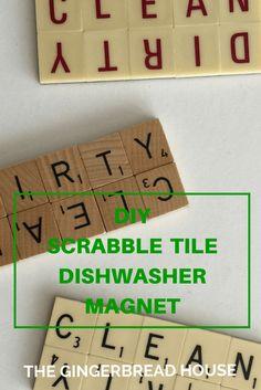 Scrabble tile dishwasher magnet