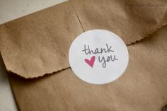 Free Printable: Thank You Tags and Stickers   Hey Love Designs