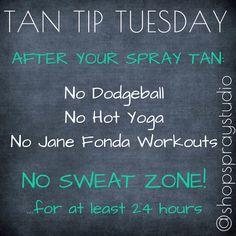 #TANTIPTUESDAY - No Sweat Zone :) http://instagram.com/shopspraystudio
