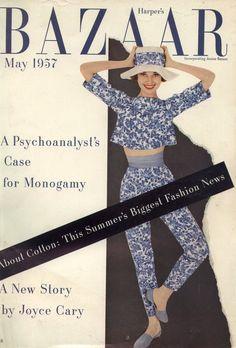 Audrey Hepburn on the cover of Harpers Bazaar 1957